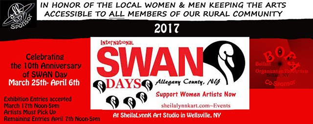 SWAN Day, Women Arts, Women Artists, Wellsville NY, Allegany County NY