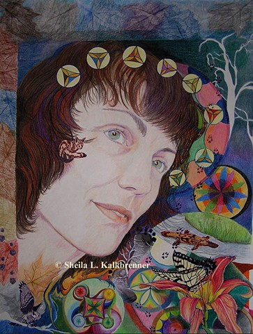 Arachnoiditis Survivor, Art For Arachnoiditis, Fine Art Portraits, Sheila L. Kalkbrenner