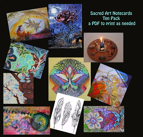 Winter Holiday Cards, Sacred Sister Art, Sacred Art
