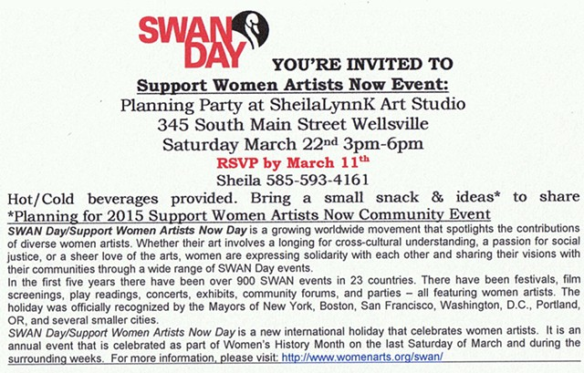 Women Arts, SWAN Day, Allegany County NY,
