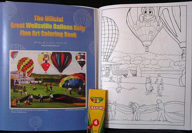 balloon festival, wellsville balloon rally coloring book, kids balloons