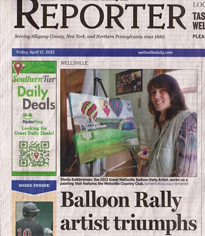 """Balloon Rally Artist Triumphs"" ~Kathryn Ross/Daily Reporter"