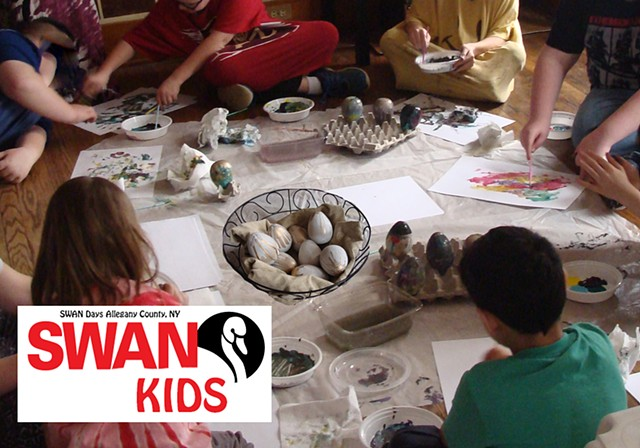 SWAN Kids Egg Painting Activities