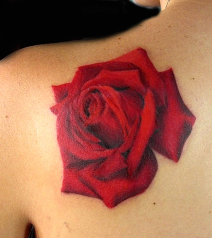 Detailed Red Rose by Tiffany Garcia Tattoo Artist Original Custom Tattoos located in Long Beach, Huntington Beach, Carson, Palos Verdes, Los Angeles, West Hollywood, Pacific Coast Highway and surrounding areas in Southern California.