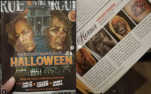 Article featured in Rue Morgue magazine