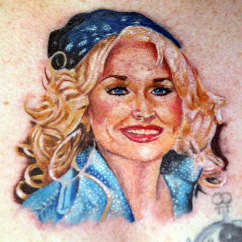 Portrait of Dolly by Tiffany Garcia Tattoo Artist Original Custom Tattoos located in Long Beach, Huntington Beach, Carson, Palos Verdes, Los Angeles, West Hollywood, Pacific Coast Highway and surrounding areas in Southern California.