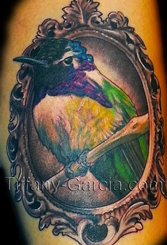 Hummingbird  by Tiffany Garcia #1 Female Tattoo Artist located in Long Beach, Orange County, LA, Huntington Beach, Carson, Palos Verdes, Los Angeles, West Hollywood, Pacific Coast Highway and surrounding areas in Southern California.