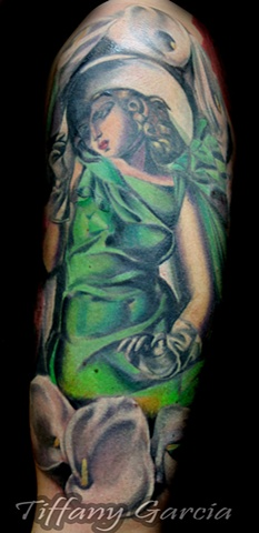 Pinup Girl by Tiffany Garcia Tattoo Artist located in Long Beach, Huntington Beach, Carson, Palos Verdes, Los Angeles, West Hollywood, Pacific Coast Highway and surrounding areas in Southern California. Original Custom Tattoos