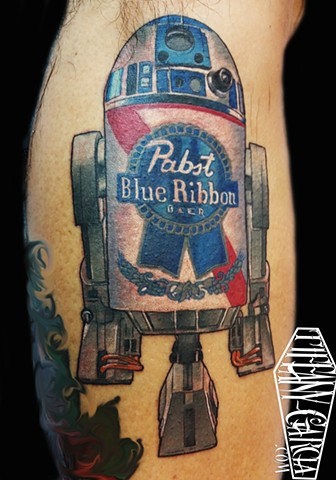 Pabst Blue R2D2 by Tiffany Garcia Long Beach, CA