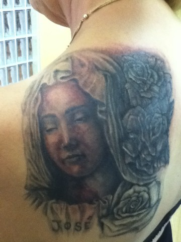 pieta and cover up