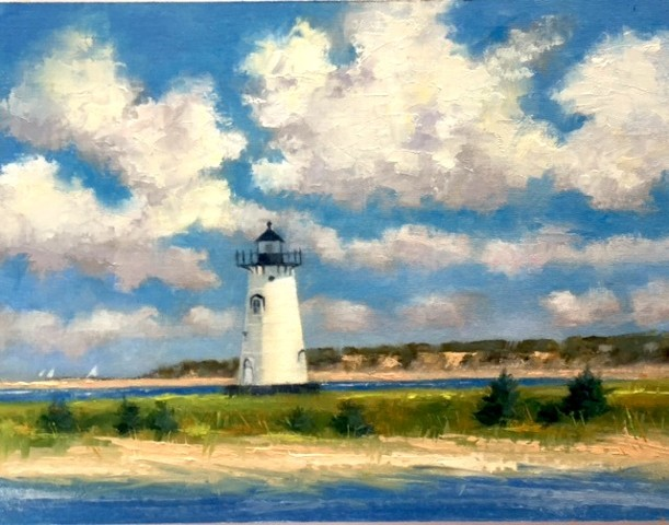 Edgartown Light with Clouds