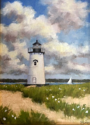 Edgartown Light with English Lace