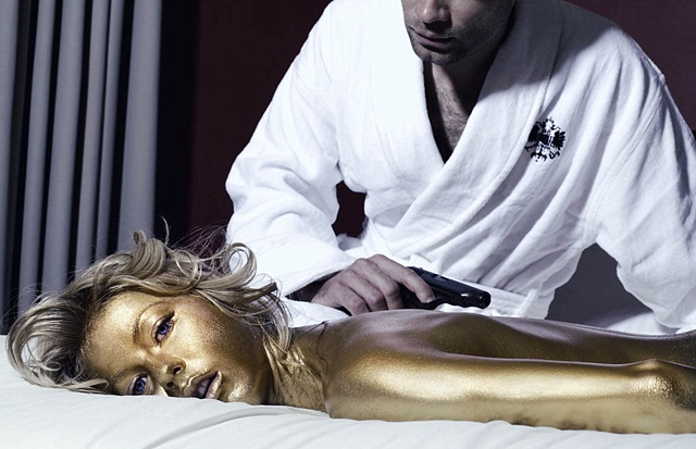 Julianne Hough as 007 goldfinger mermaid