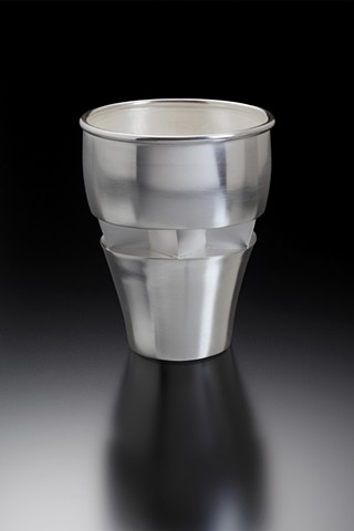 Anika Smulovitz, sterling silver kiddish cup Fred Fenster Judaica inspired handmade