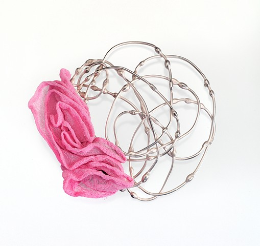 Anika Smulovitz, breathe, brooch, sterling silver jewelry, repurposed thrift store clothes, breathe jewelry