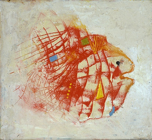 Wax fish painting