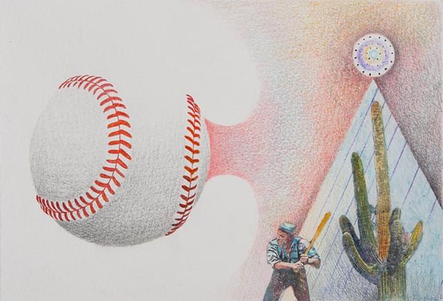 cereus cactus, baseball