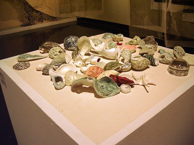 Detail of Porcelain pieces