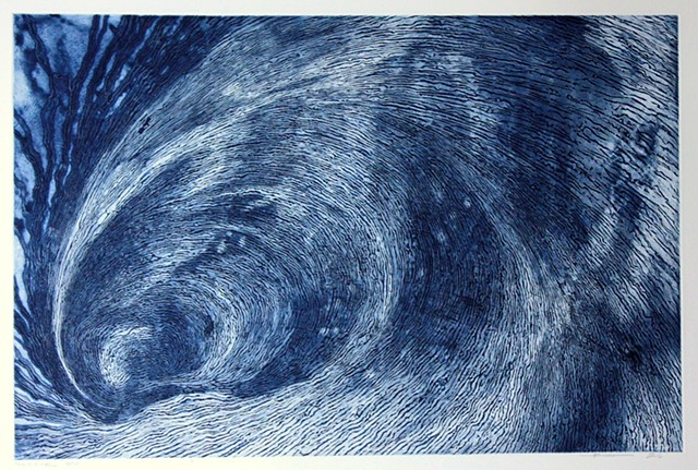 wave-like image etching