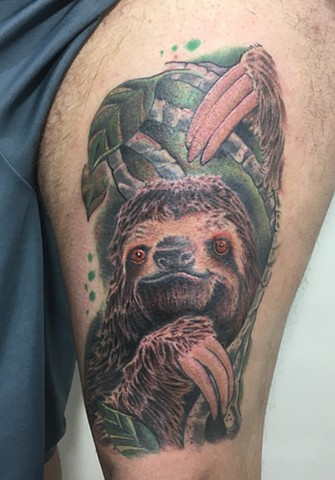 Sloth tattoo