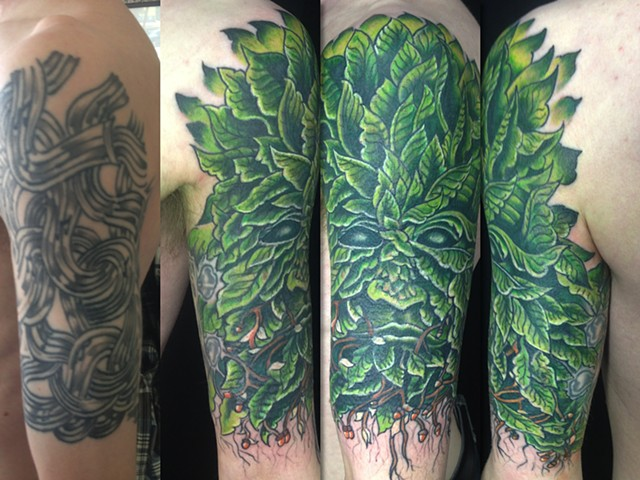 Green man cover up