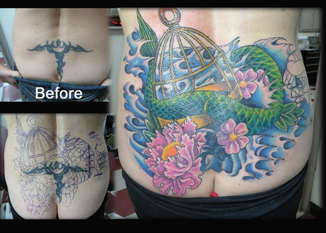 dragon cover up tattoo