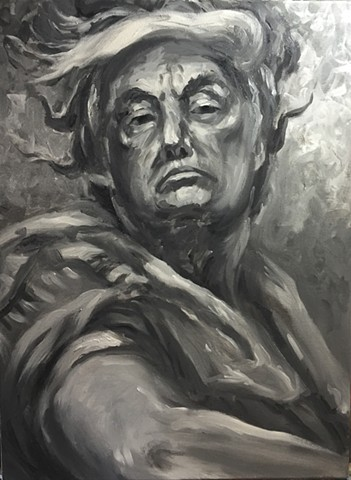 Donald Trump Roman Portrait