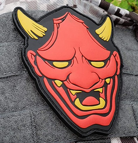 Red Hannya PVC Patches