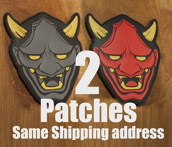 Two Hannya Patches, save on Shipping