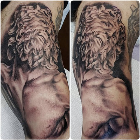 Black and grey tattoo iron cypress lake Charles louisiana