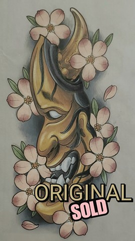 Hannya Drawing Original