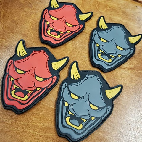 Hannya morale velcro patch in pvc