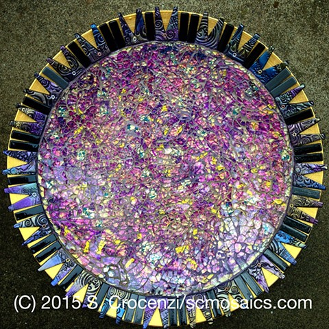 mosaic bowl decorative bowl wall-hanging tempered glass mosaic