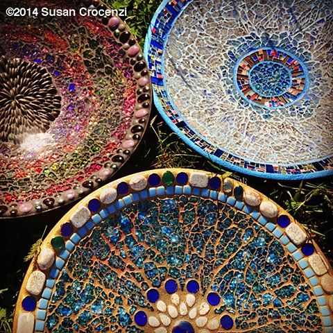 tempered glass mosaic bowls