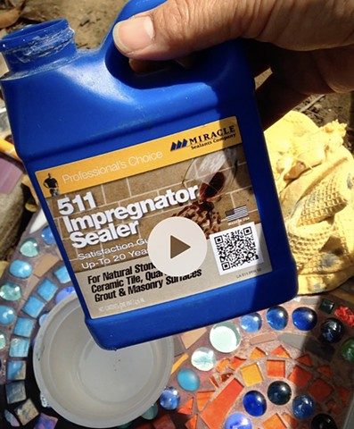 Applying Penetrating Grout Sealer to your Mosaics