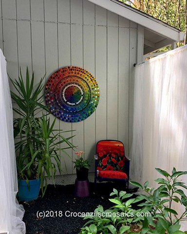Create a large round color wheel for your yard, garden, patio, or living room!