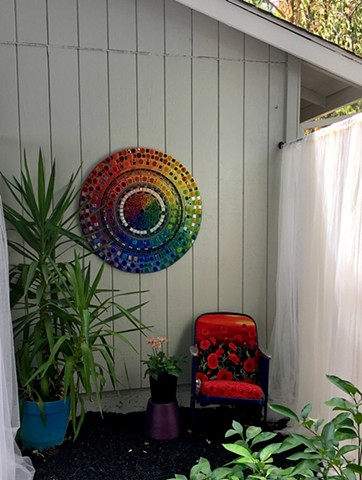 Full spectrum is a color wheel mandala for your outdoor (or indoor) space