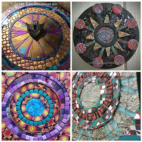 Make a mosaic mandala while learning about polymer clay canes and tilemaking