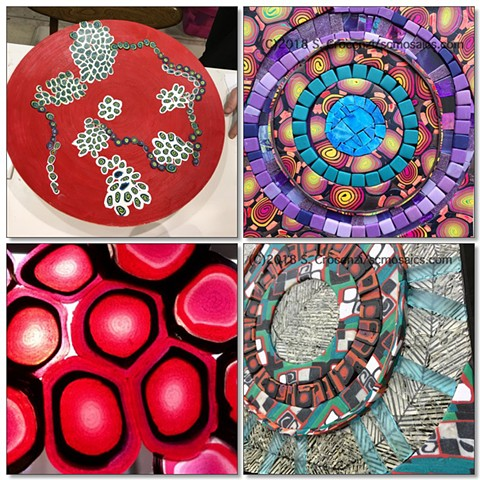 polymer clay tiles and coverings for mosaic artists and embellishers