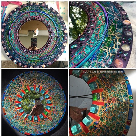 learn to make a tempered glass mosaic mirror