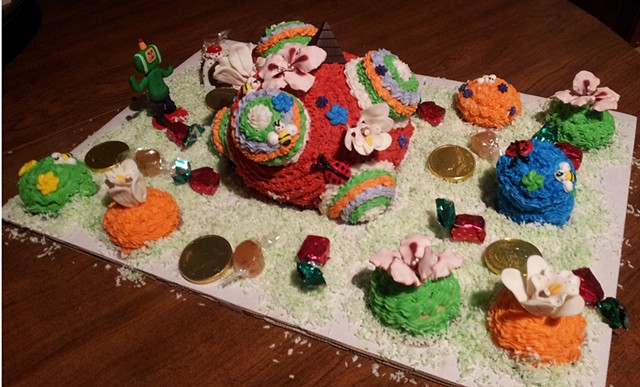 Happy Birthday!  Katamari Cake  courtesy of Erin Peach-Peeler