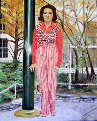 Ivy Medina merchantofcolor.com New York American painter original oils on canvas portrait boricua