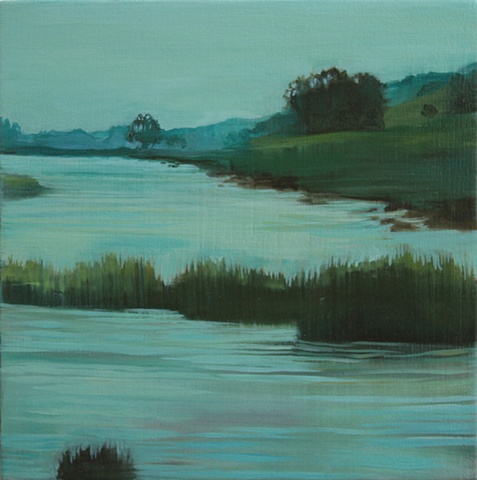 A painting of the Schollenberger Wetlands in Sonoma County.
