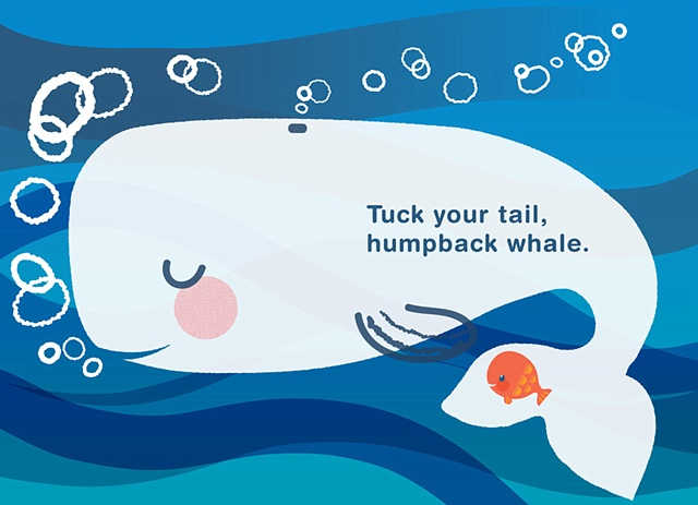 Bedtime Kiss for Little Fish Humpback Whale  Client: Scholastic