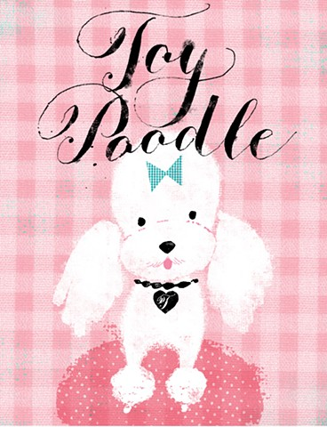 dogs alphabet poodle calligraphy a-z