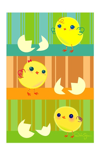 Little Chick's Happy Easter, children's book, illustration