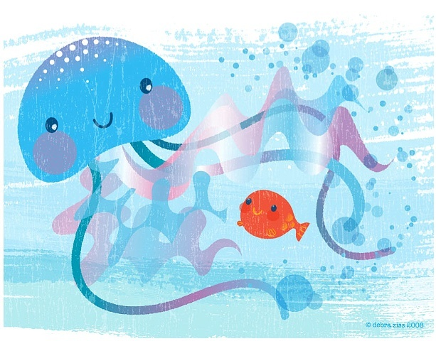 Bedtime Kiss for Little Fish Jellyfish  Client: Scholastic