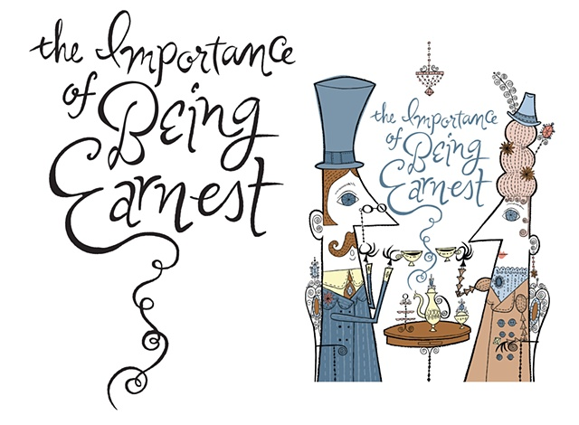 The Importance of Being Earnest  Client: Papermill Playhouse (artwork by Melinda Beck)