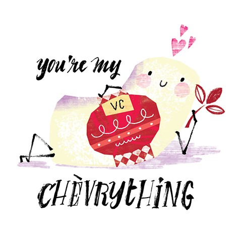 vermont creamery cheese valentines illustrations
