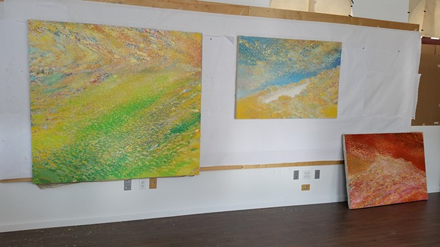 completed works in studio